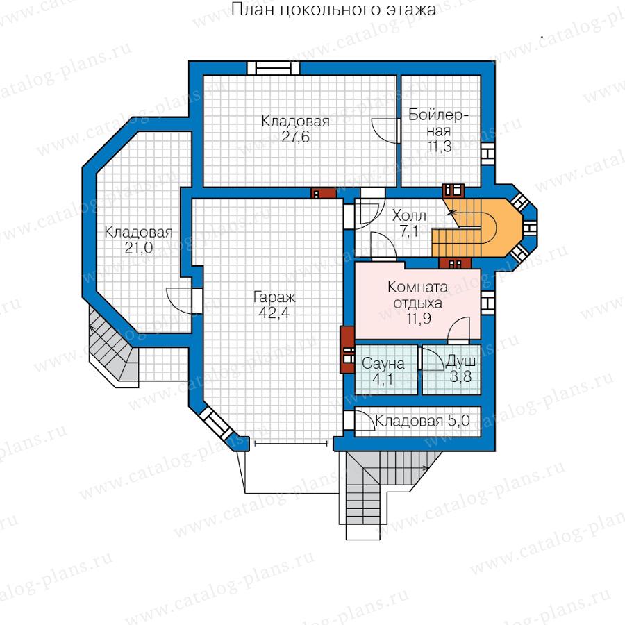 1этаж. План проекта №62-09