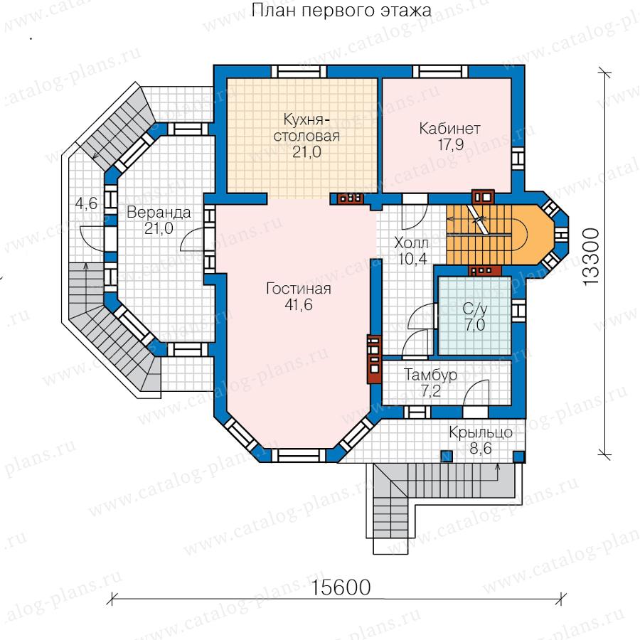 2этаж. План проекта №62-09