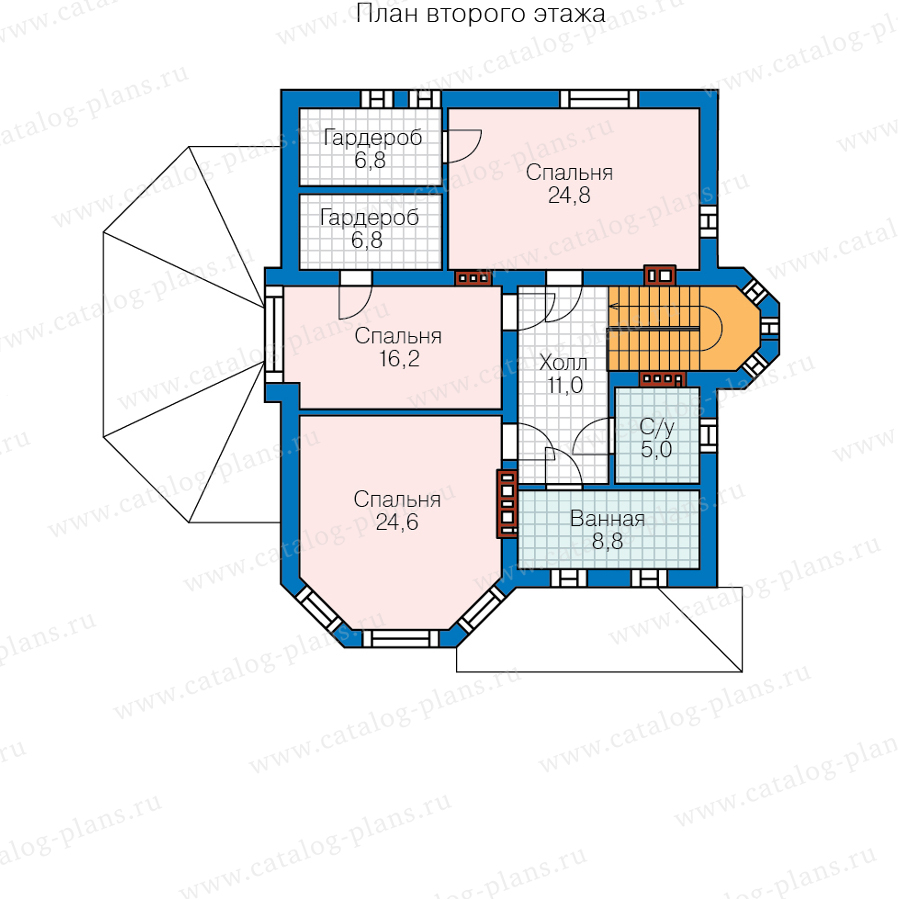 3этаж. План проекта №62-09
