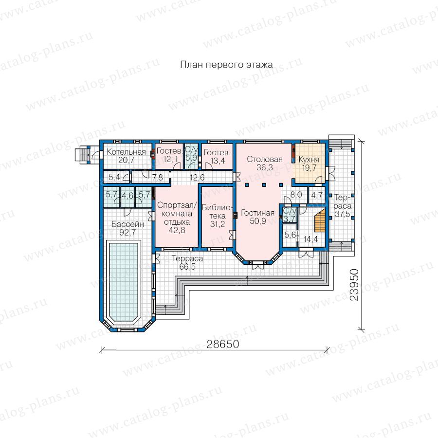 1этаж. План проекта №62-10