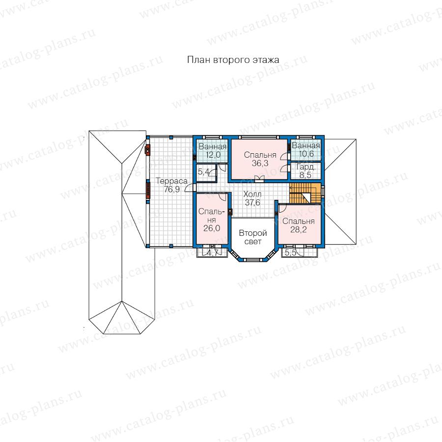 2этаж. План проекта №62-10