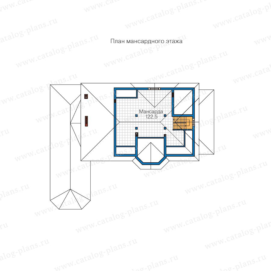 3этаж. План проекта №62-10