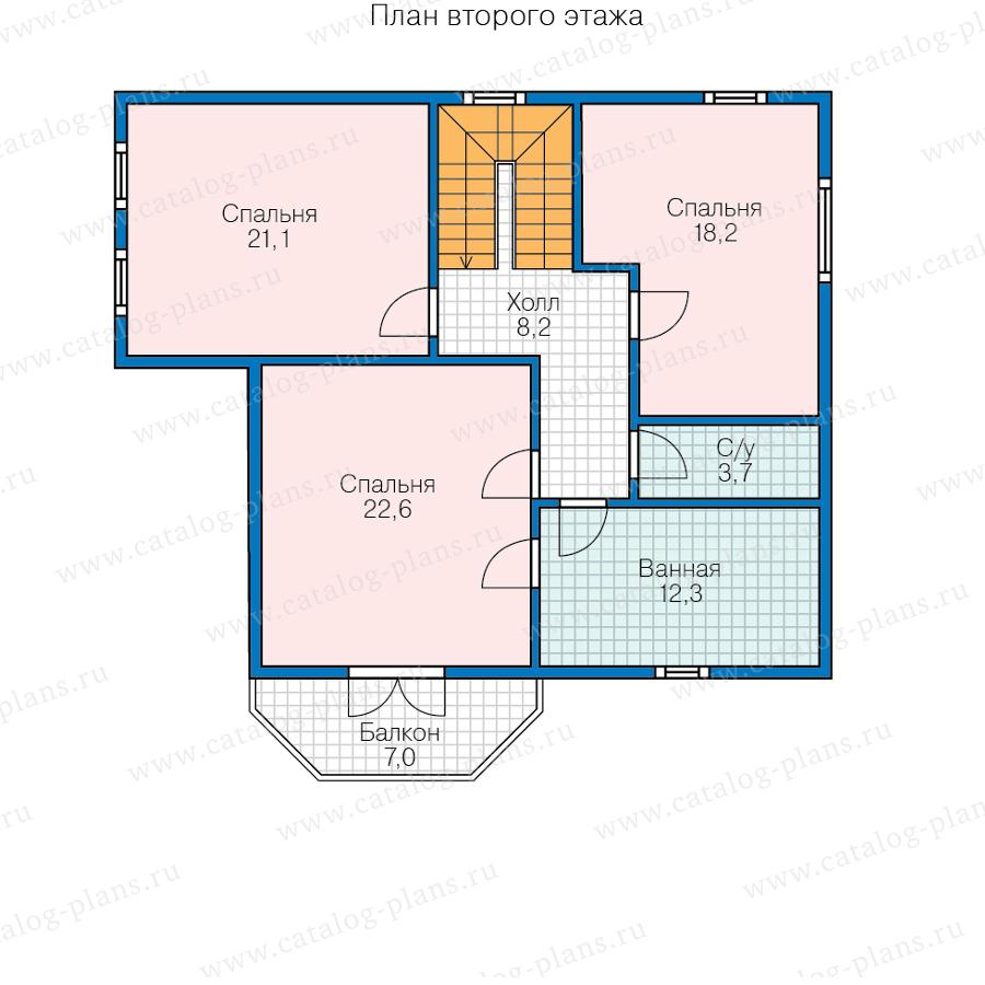 2этаж. План проекта №70-86