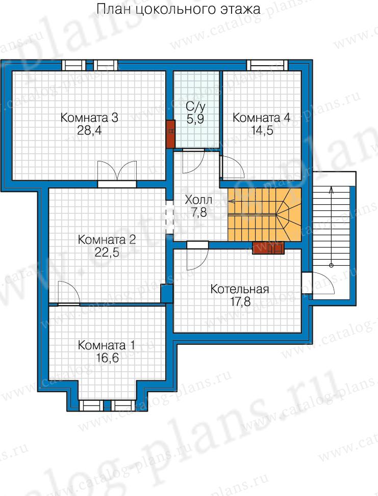 1этаж. План проекта №80-16