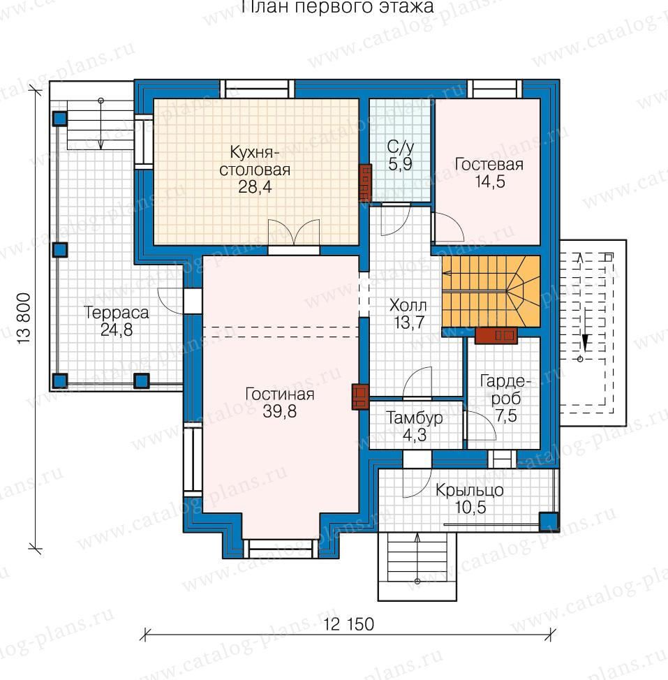 2этаж. План проекта №80-16