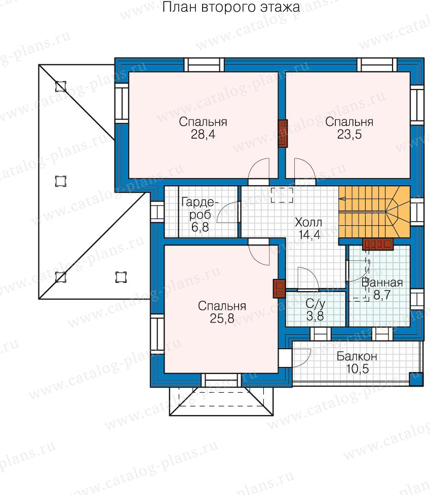 3этаж. План проекта №80-16
