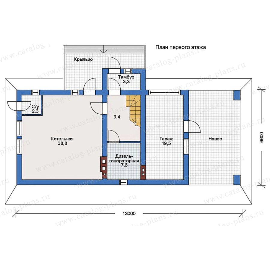 1этаж. План проекта №90-01