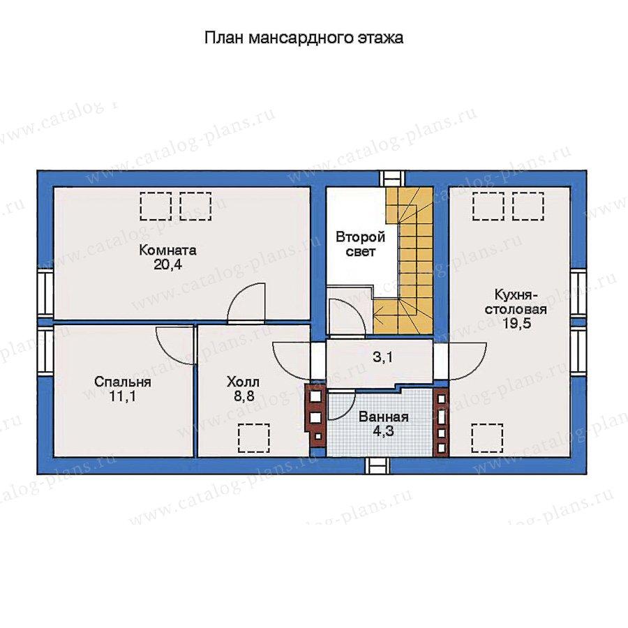 2этаж. План проекта №90-01