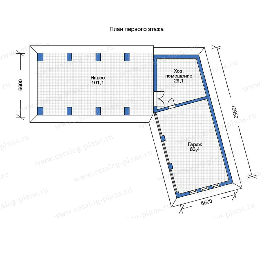 1этаж. План проекта №90-02
