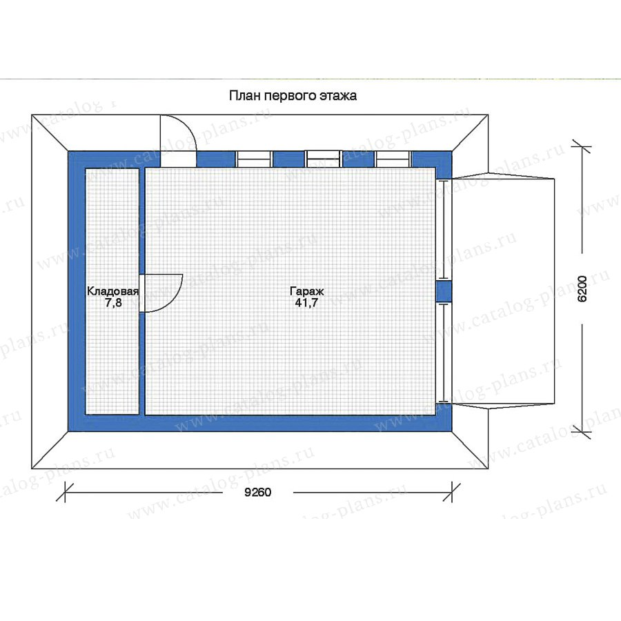 1этаж. План проекта №90-03