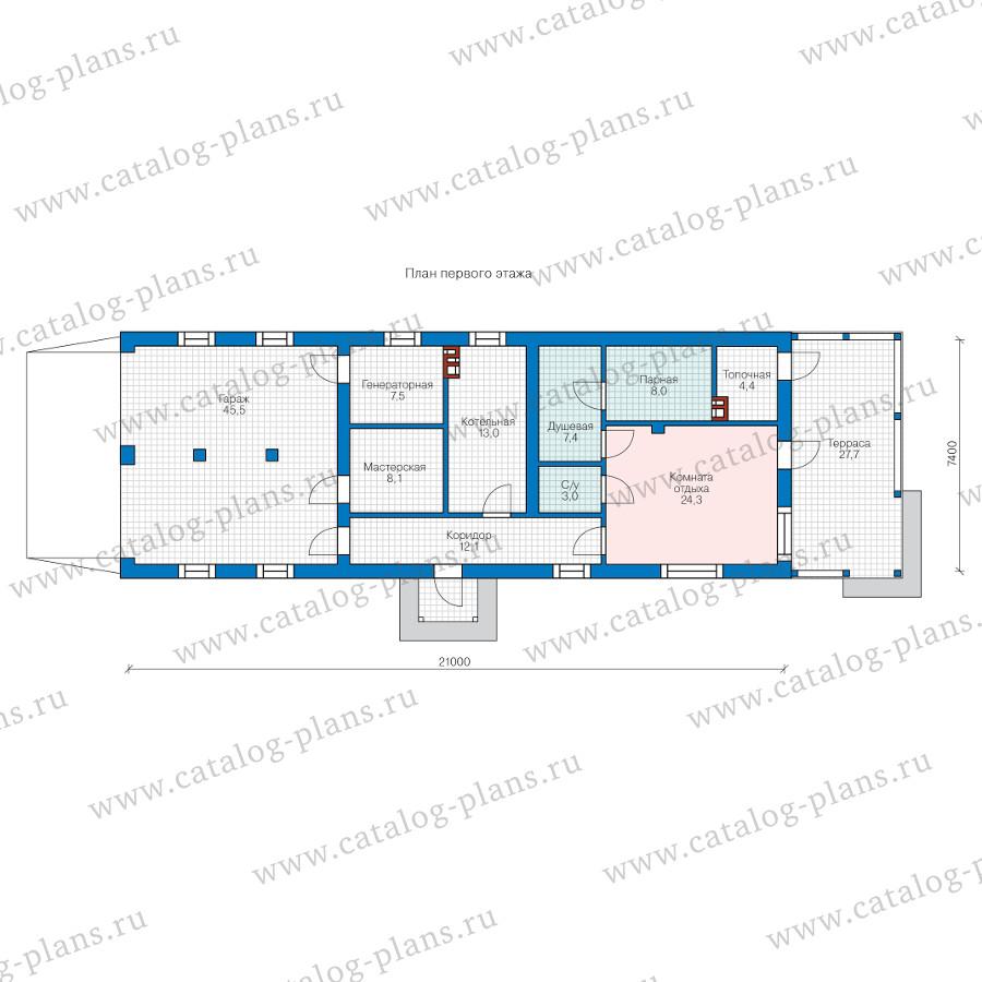 1этаж. План проекта №90-42