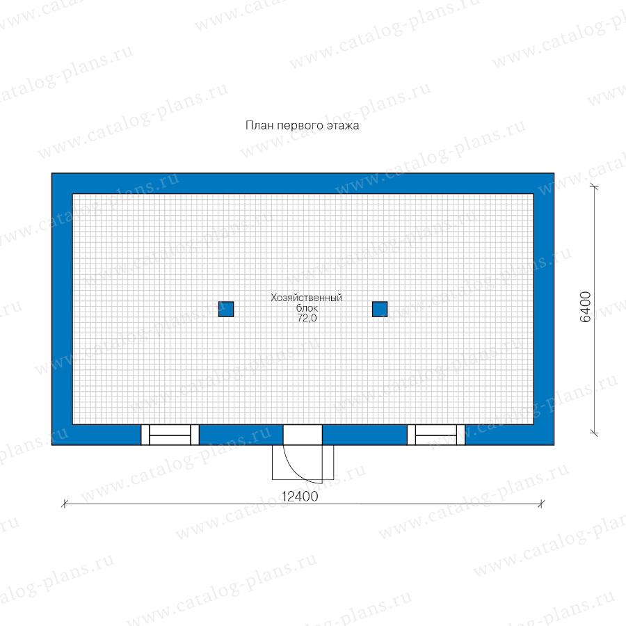 1этаж. План проекта №90-52